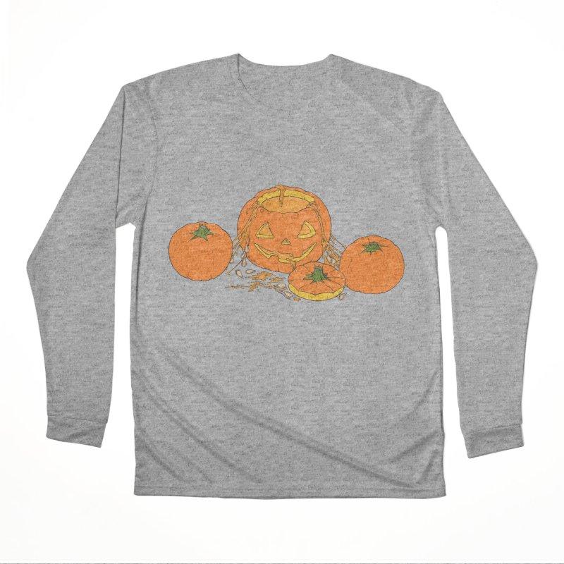 Pumpkin Guts Women's Performance Unisex Longsleeve T-Shirt by RichRogersArt