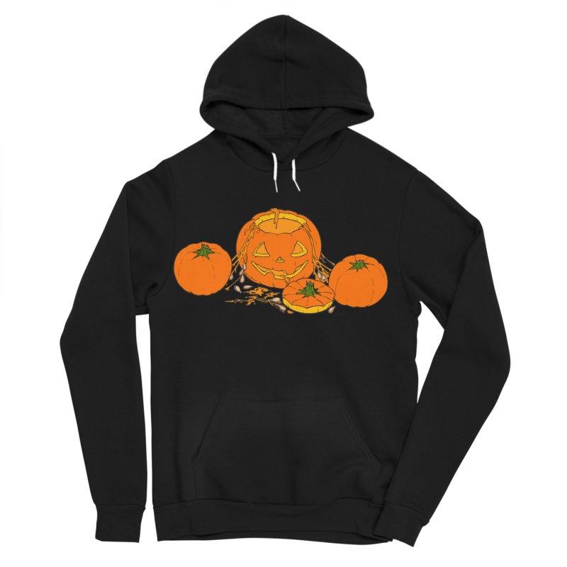 Pumpkin Guts Men's Sponge Fleece Pullover Hoody by RichRogersArt