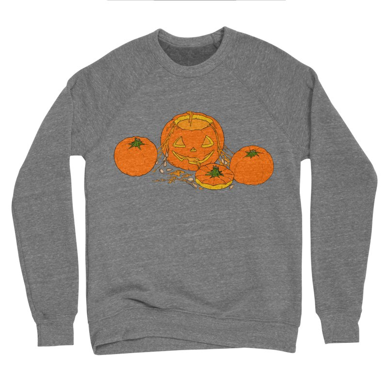 Pumpkin Guts Men's Sponge Fleece Sweatshirt by RichRogersArt
