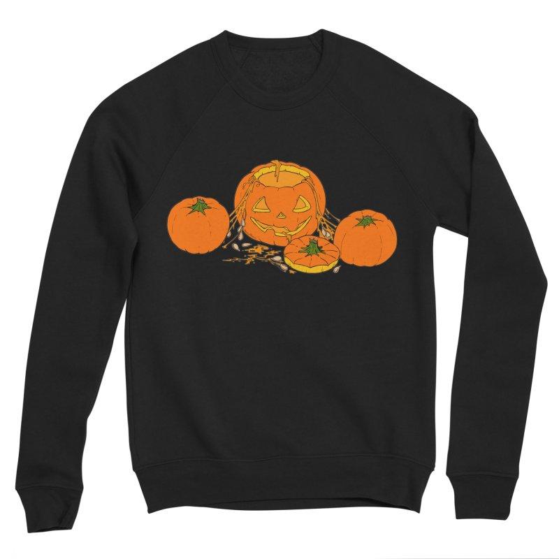 Pumpkin Guts Men's Sponge Fleece Sweatshirt by RichRogersArt