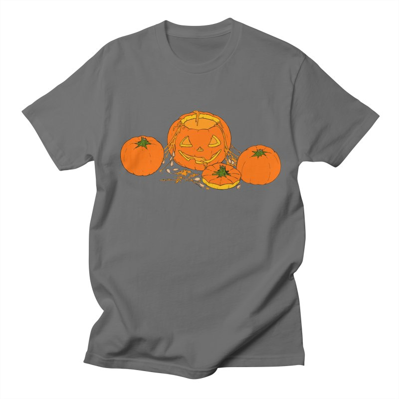Pumpkin Guts Men's T-Shirt by RichRogersArt