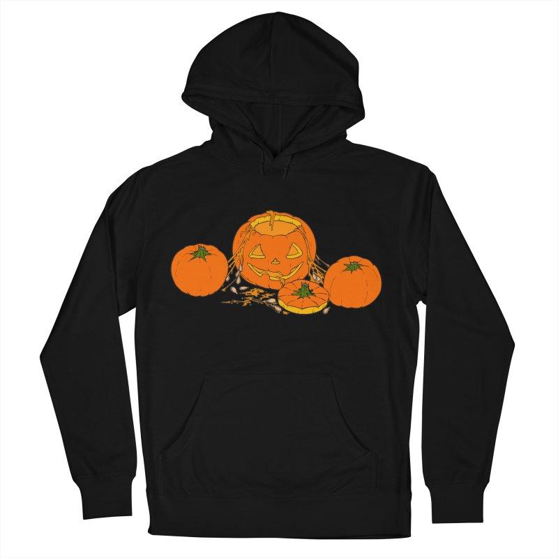 Pumpkin Guts Men's French Terry Pullover Hoody by RichRogersArt