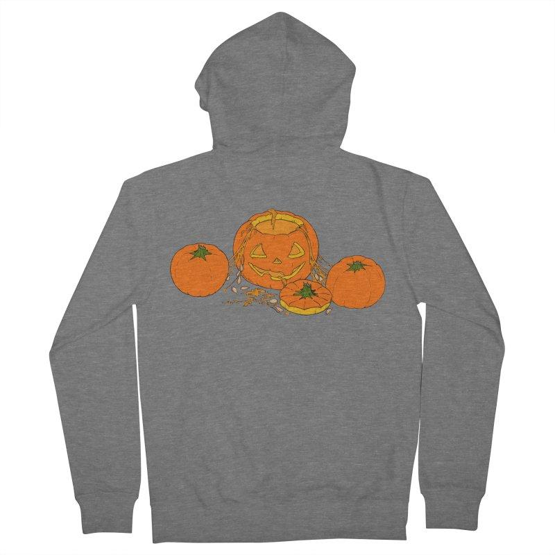 Pumpkin Guts Women's French Terry Zip-Up Hoody by RichRogersArt