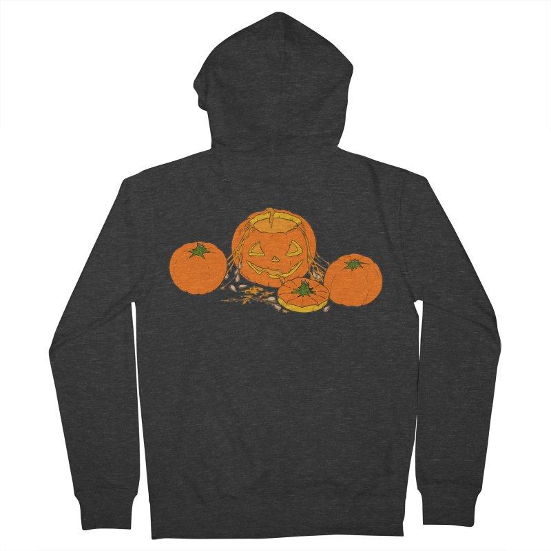 Pumpkin Guts Men's French Terry Zip-Up Hoody by RichRogersArt