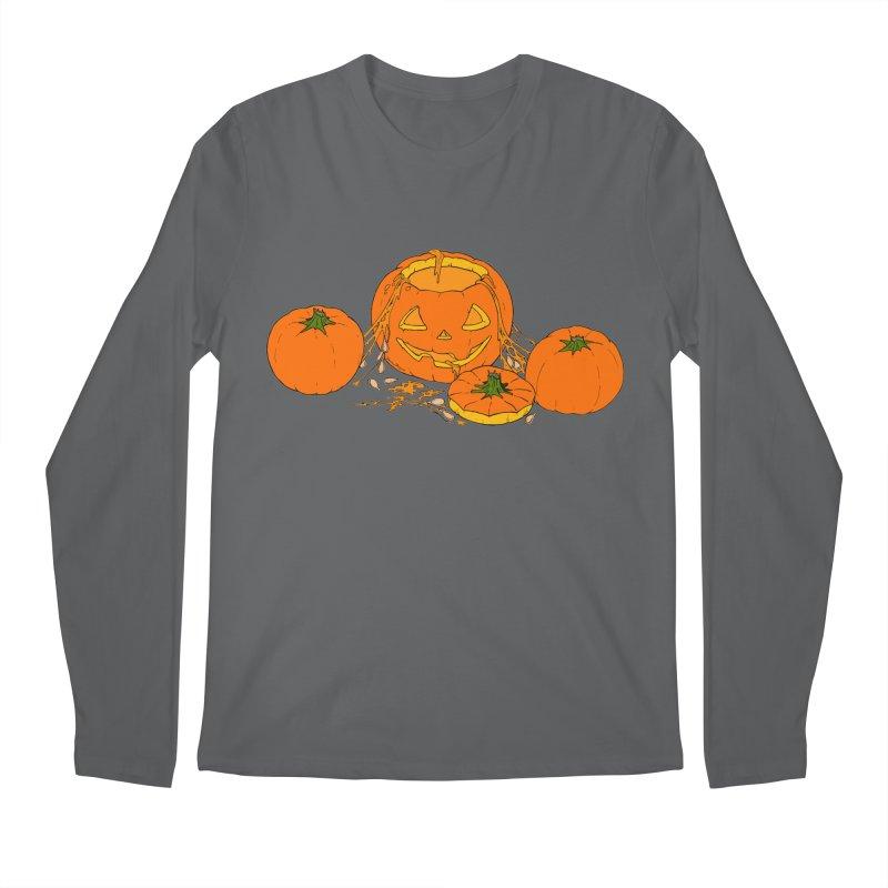 Pumpkin Guts Men's Regular Longsleeve T-Shirt by RichRogersArt