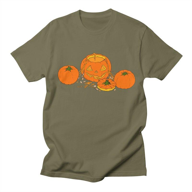 Pumpkin Guts Women's Regular Unisex T-Shirt by RichRogersArt