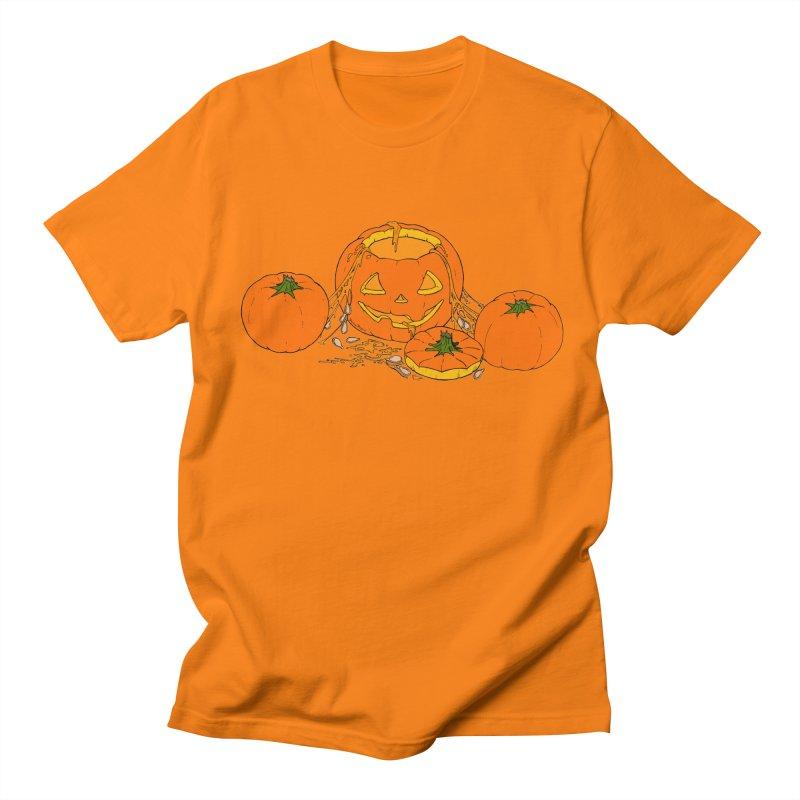 Pumpkin Guts Men's Regular T-Shirt by RichRogersArt