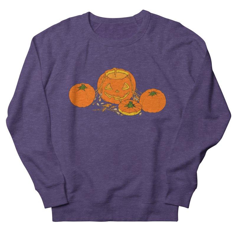 Pumpkin Guts Men's French Terry Sweatshirt by RichRogersArt