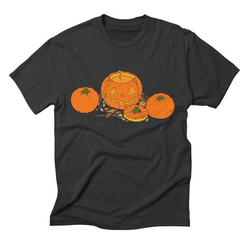 Pumpkin Guts Men's Triblend T-Shirt by RichRogersArt