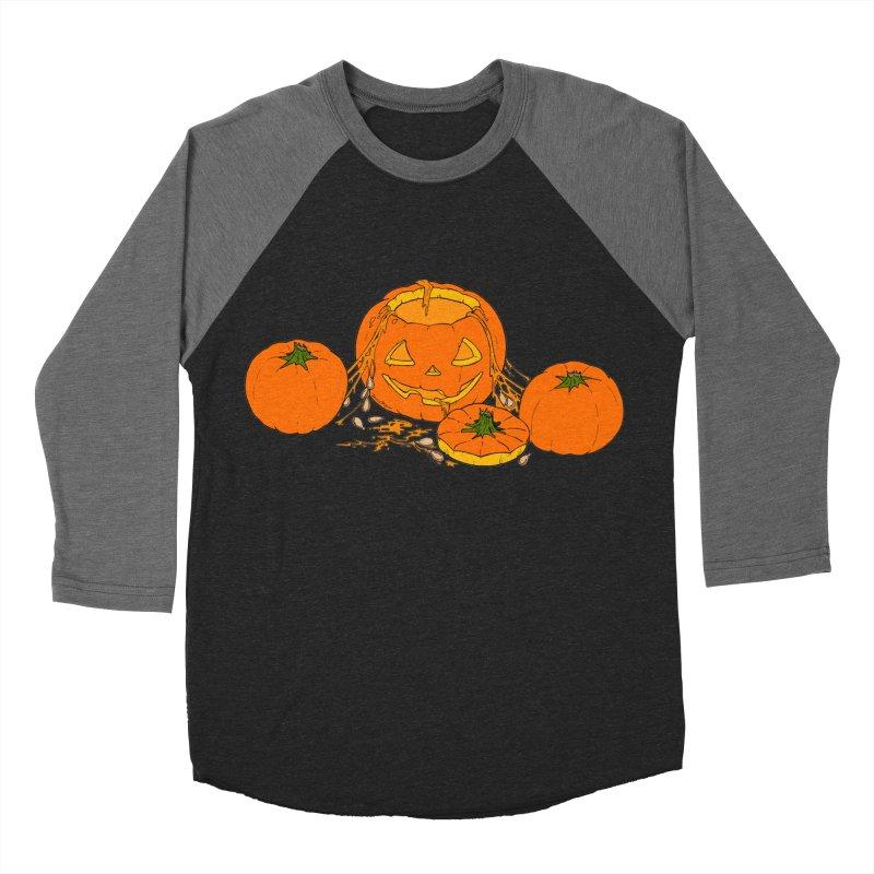 Pumpkin Guts Women's Baseball Triblend Longsleeve T-Shirt by RichRogersArt