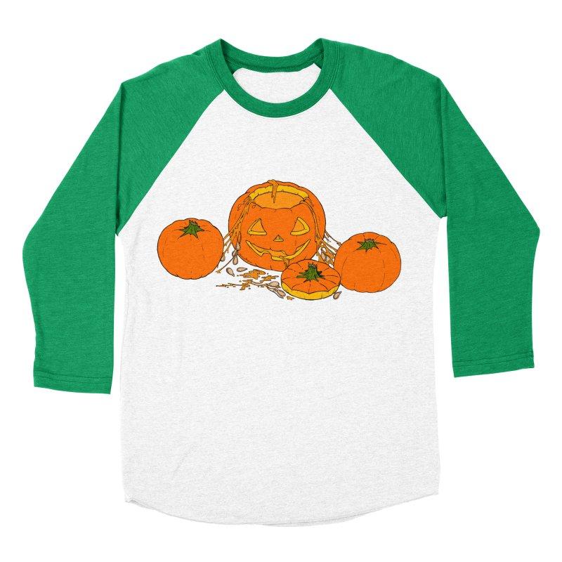 Pumpkin Guts Men's Baseball Triblend Longsleeve T-Shirt by RichRogersArt