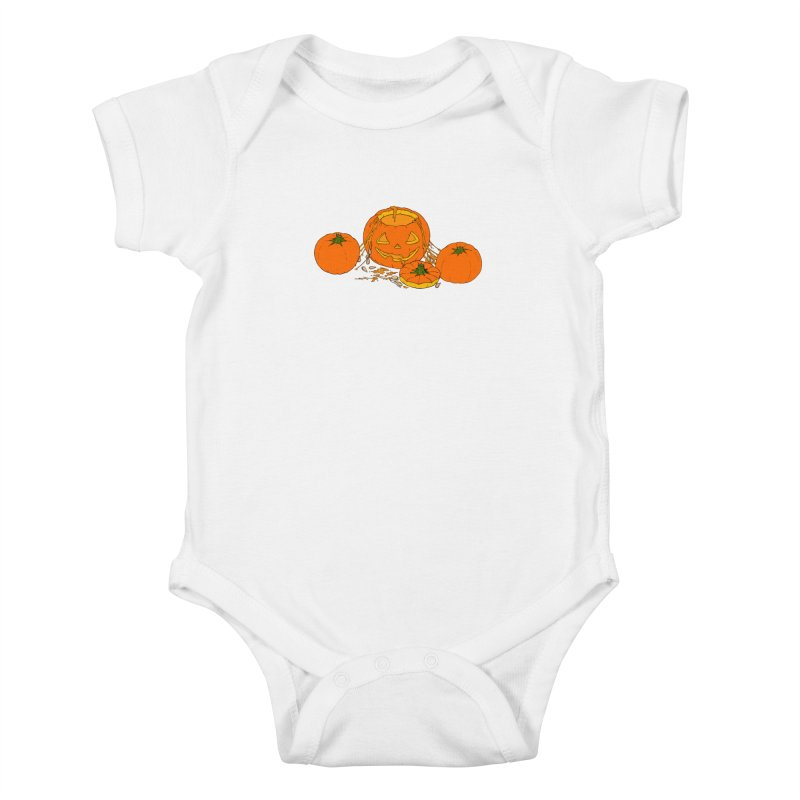 Pumpkin Guts Kids Baby Bodysuit by RichRogersArt