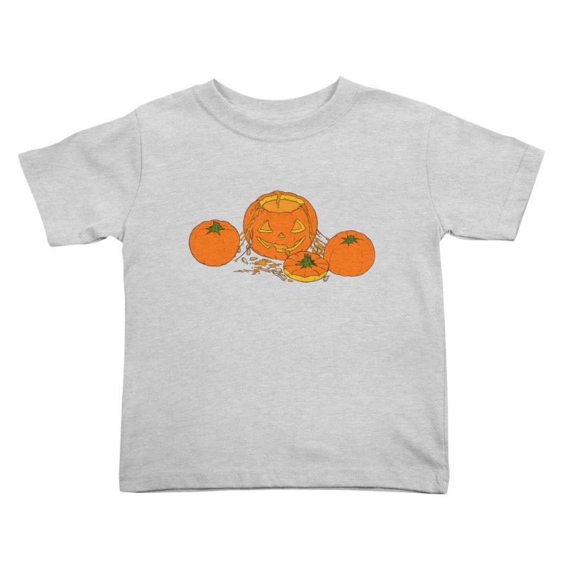 Pumpkin Guts Kids Toddler T-Shirt by RichRogersArt