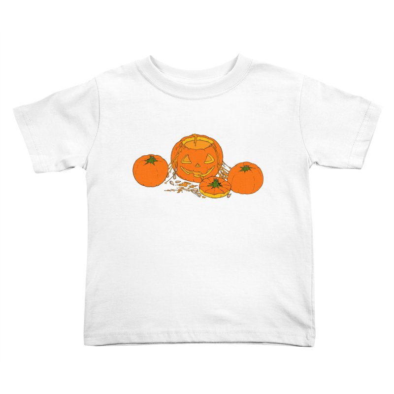Pumpkin Guts Kids Toddler T-Shirt by RichRogersArt