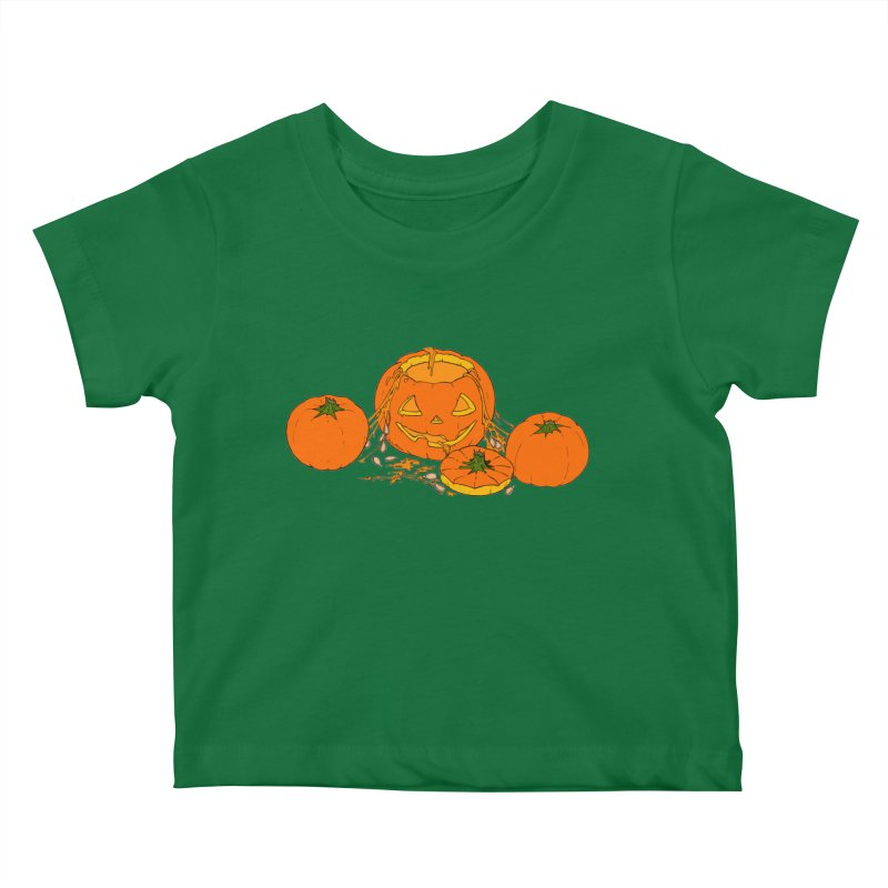 Pumpkin Guts Kids Baby T-Shirt by RichRogersArt