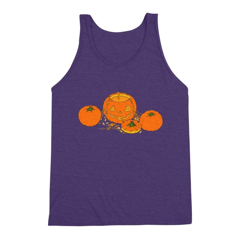 Pumpkin Guts Men's Triblend Tank by RichRogersArt