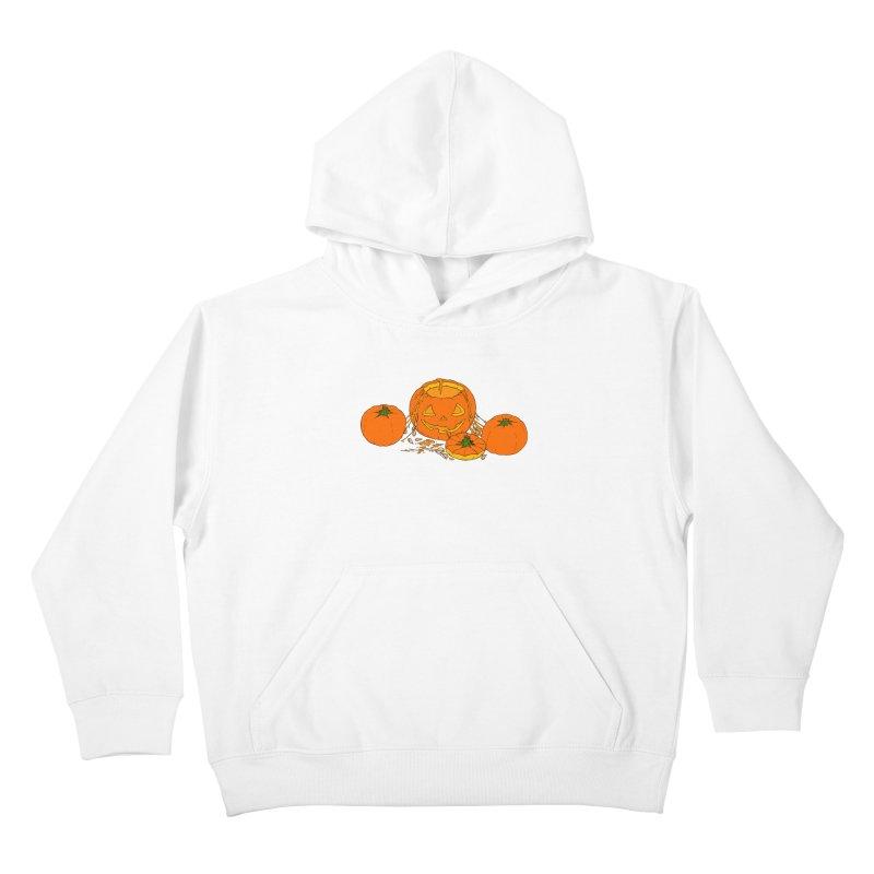 Pumpkin Guts Kids Pullover Hoody by RichRogersArt