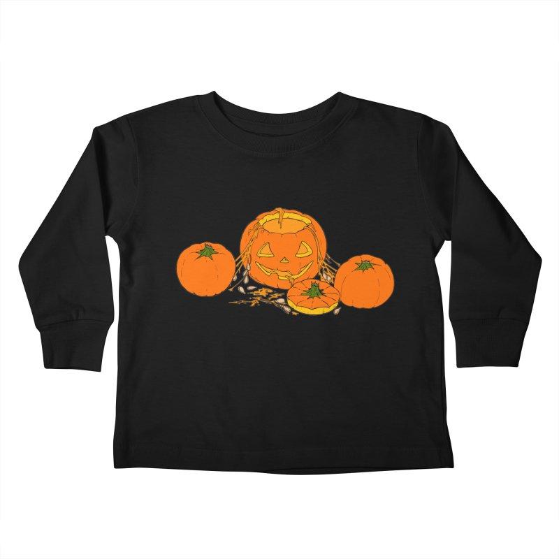 Pumpkin Guts Kids Toddler Longsleeve T-Shirt by RichRogersArt