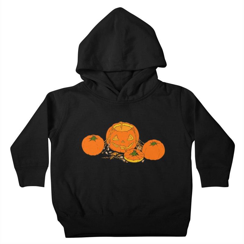 Pumpkin Guts Kids Toddler Pullover Hoody by RichRogersArt
