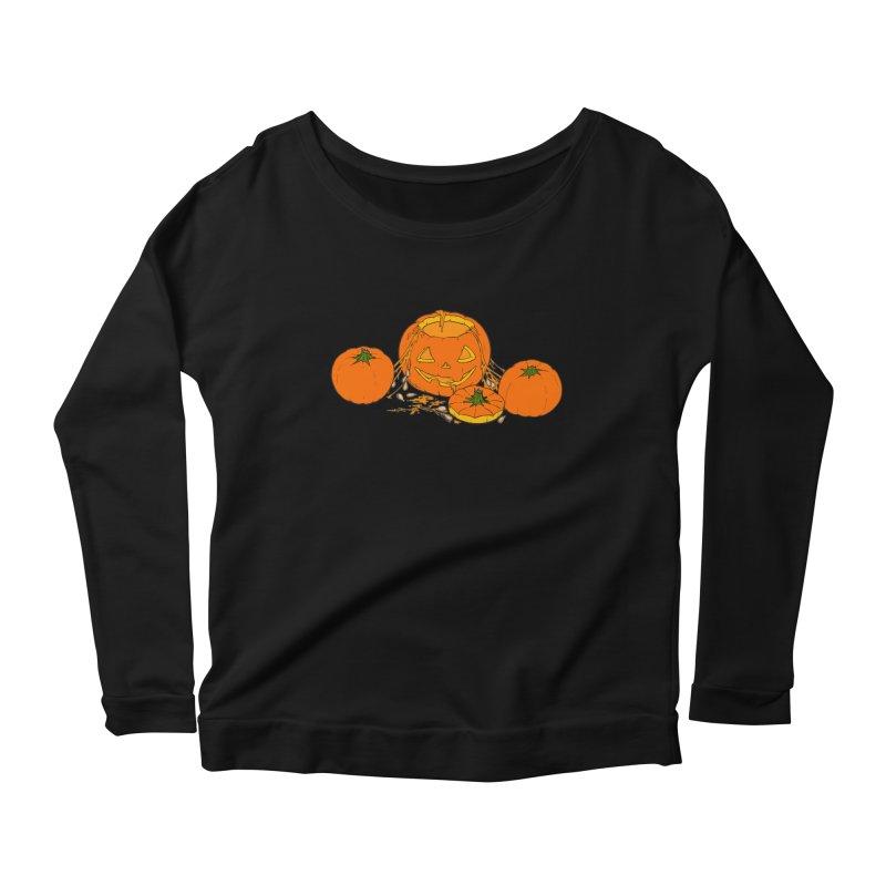 Pumpkin Guts Women's Scoop Neck Longsleeve T-Shirt by RichRogersArt
