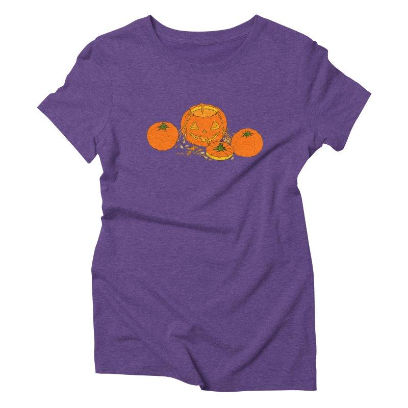 Pumpkin Guts Women's Triblend T-Shirt by RichRogersArt