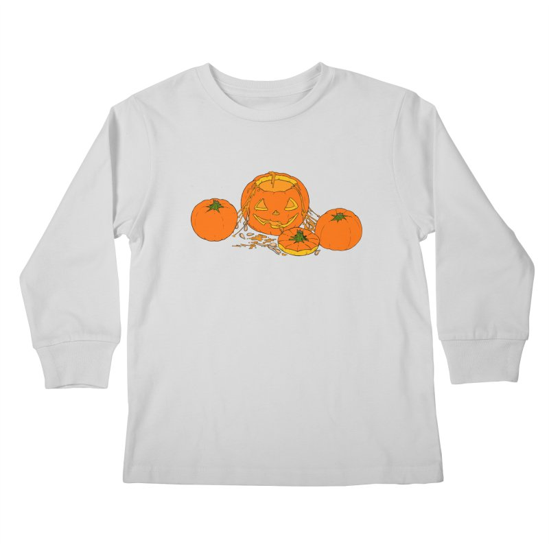 Pumpkin Guts Kids Longsleeve T-Shirt by RichRogersArt