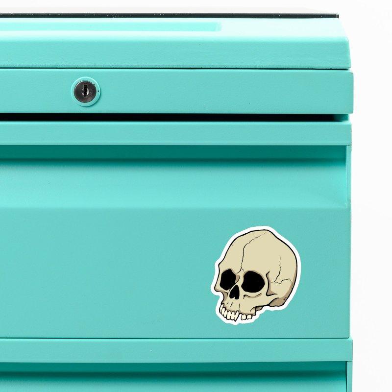 Skull Accessories Magnet by RichRogersArt