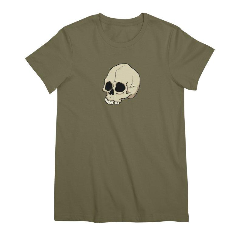 Skull Women's Premium T-Shirt by RichRogersArt