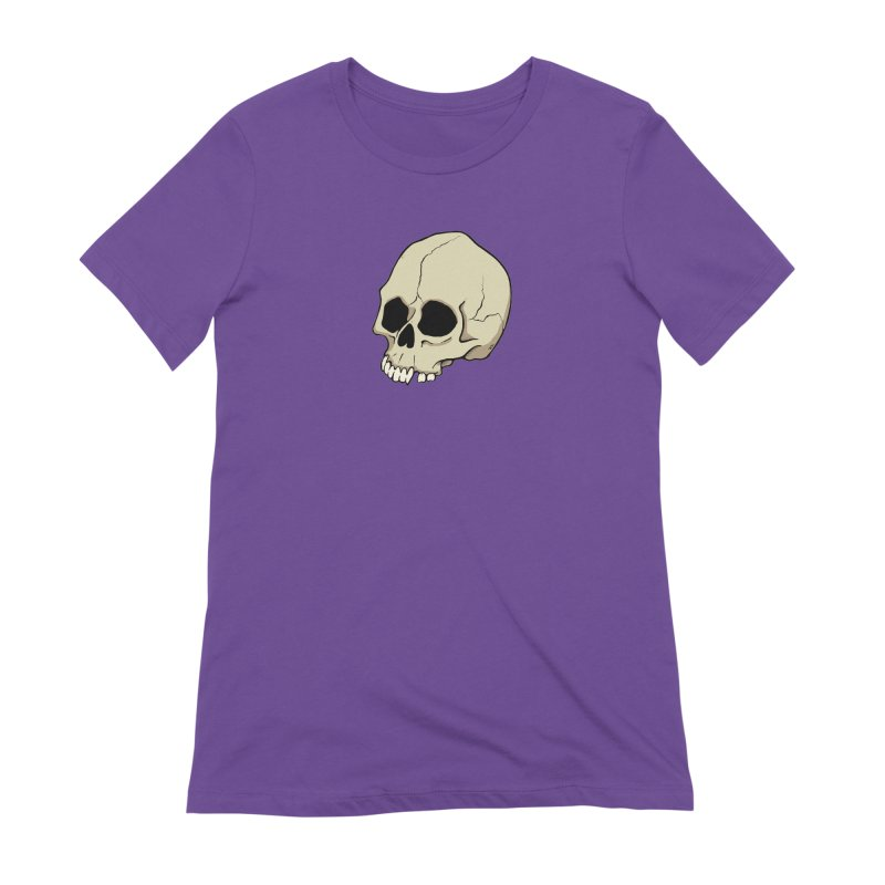 Skull Women's Extra Soft T-Shirt by RichRogersArt