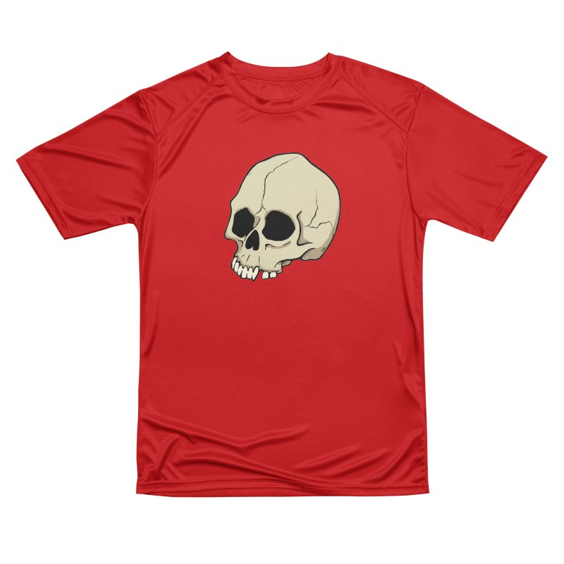 Skull Women's Performance Unisex T-Shirt by RichRogersArt