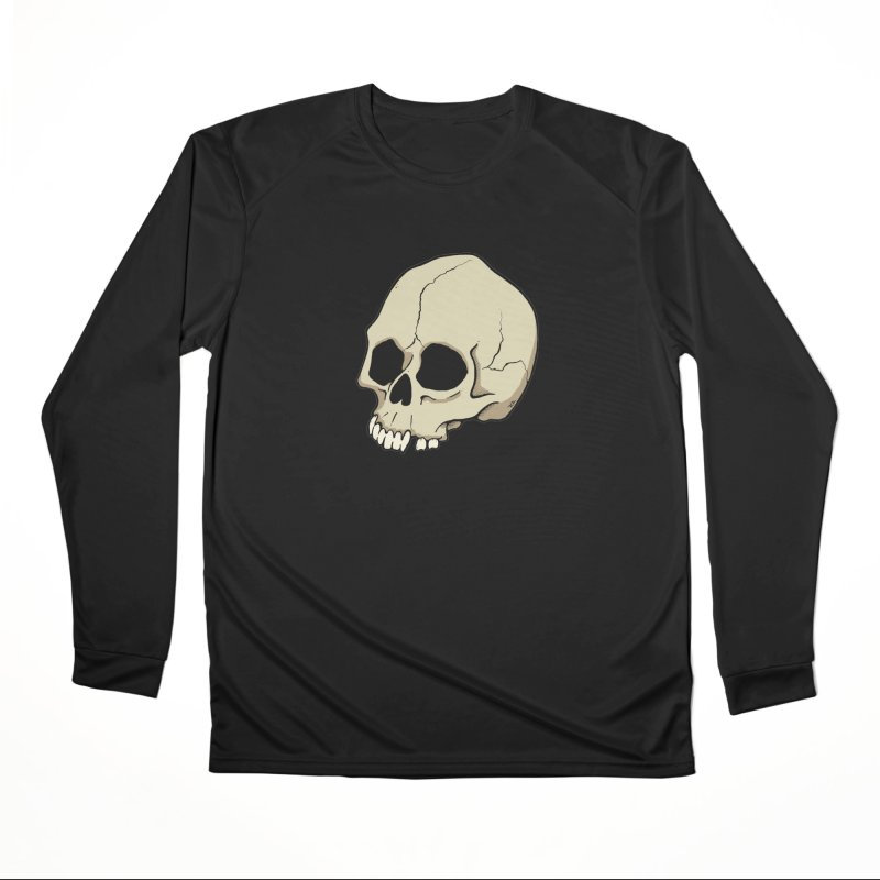 Skull Women's Performance Unisex Longsleeve T-Shirt by RichRogersArt