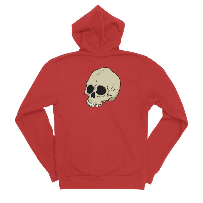 Skull Men's Sponge Fleece Zip-Up Hoody by RichRogersArt