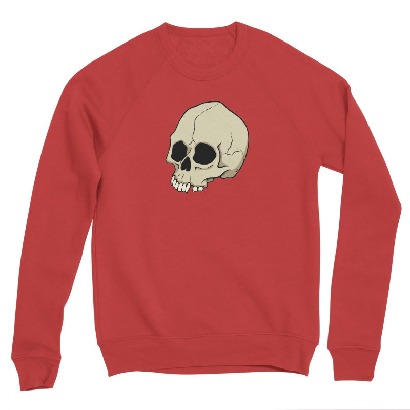 Skull Men's Sponge Fleece Sweatshirt by RichRogersArt