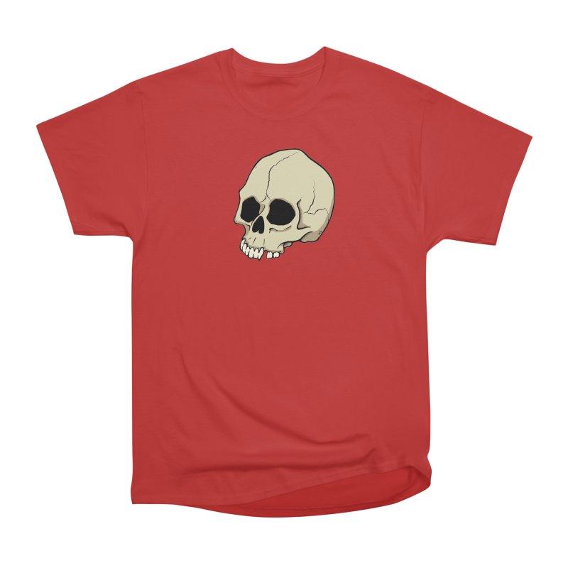 Skull Men's Heavyweight T-Shirt by RichRogersArt
