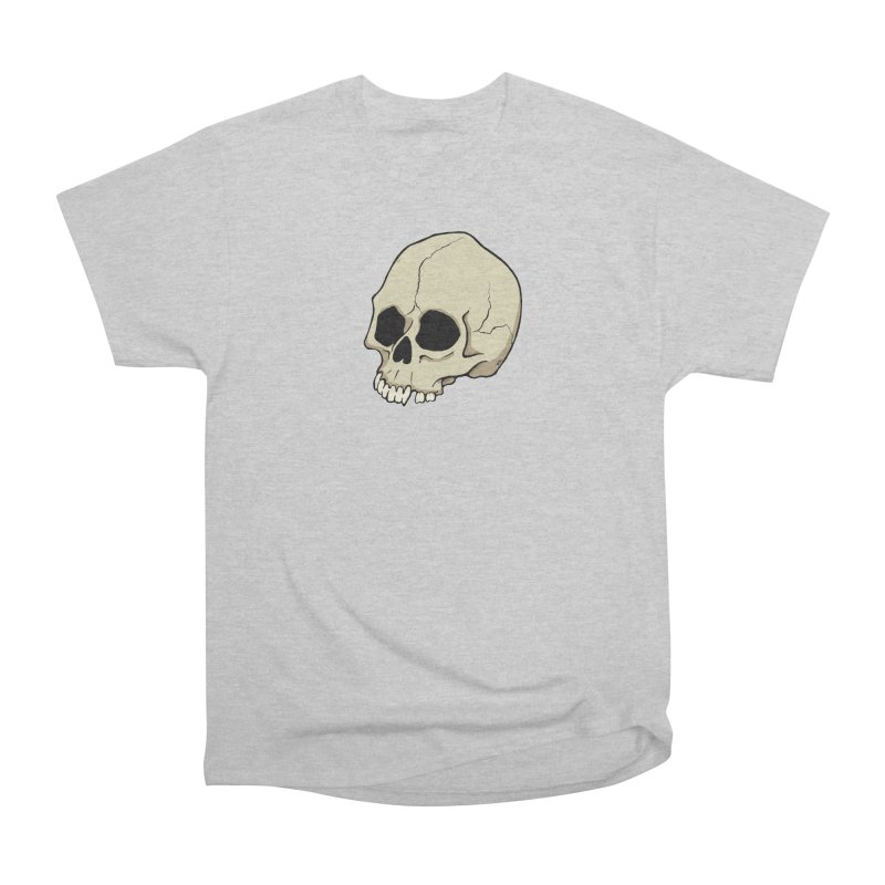 Skull Men's Heavyweight T-Shirt by RichRogersArt