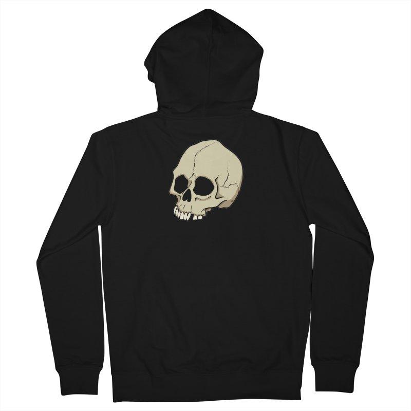 Skull Women's French Terry Zip-Up Hoody by RichRogersArt