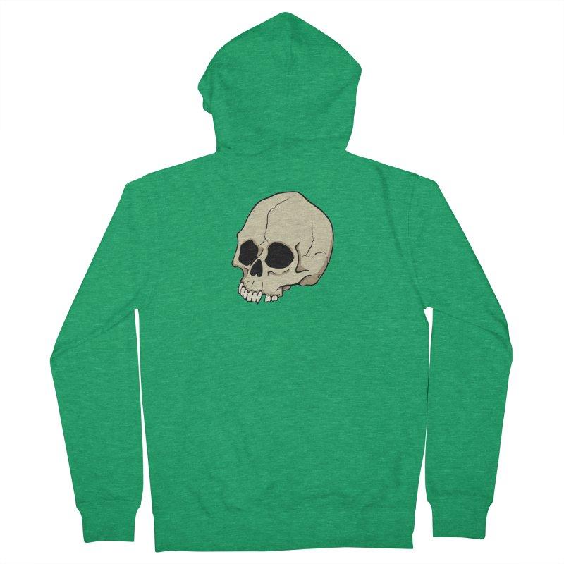 Skull Men's French Terry Zip-Up Hoody by RichRogersArt