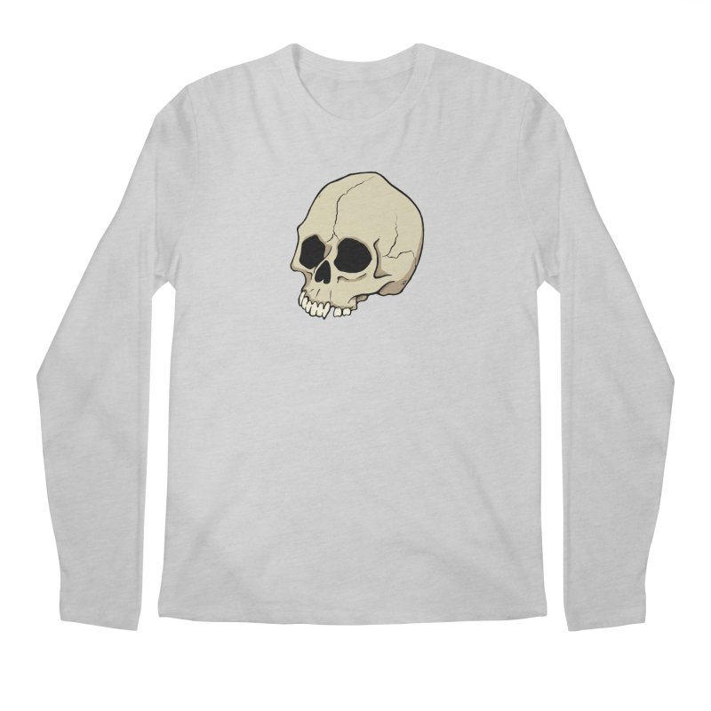 Skull Men's Regular Longsleeve T-Shirt by RichRogersArt