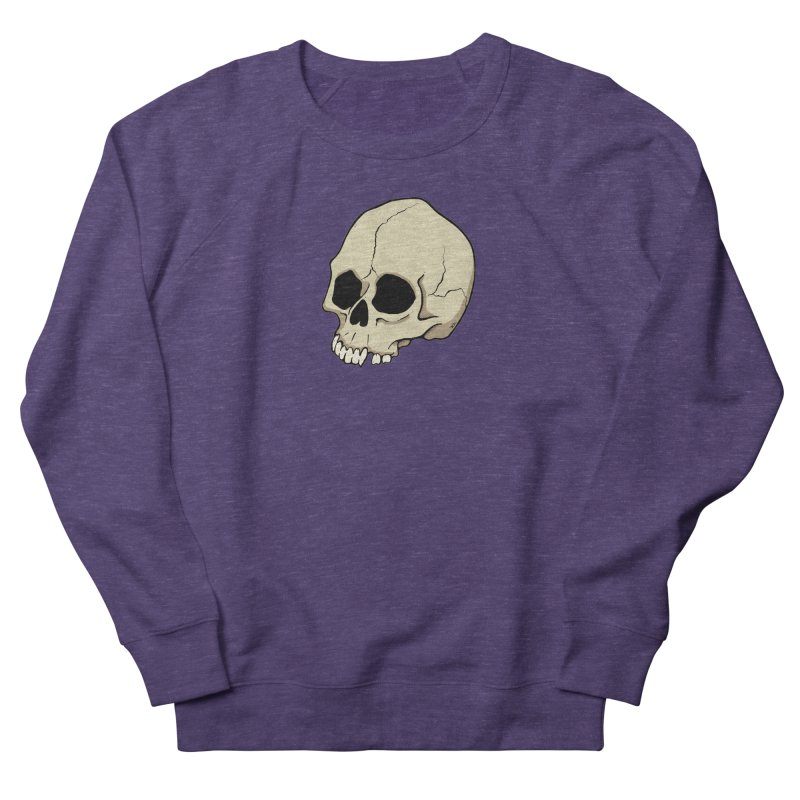 Skull Women's French Terry Sweatshirt by RichRogersArt