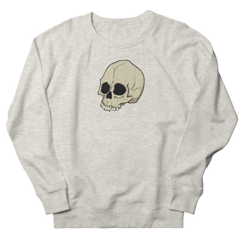 Skull Women's French Terry Sweatshirt by RichRogersArt