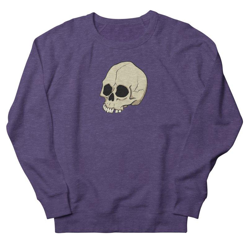 Skull Men's French Terry Sweatshirt by RichRogersArt