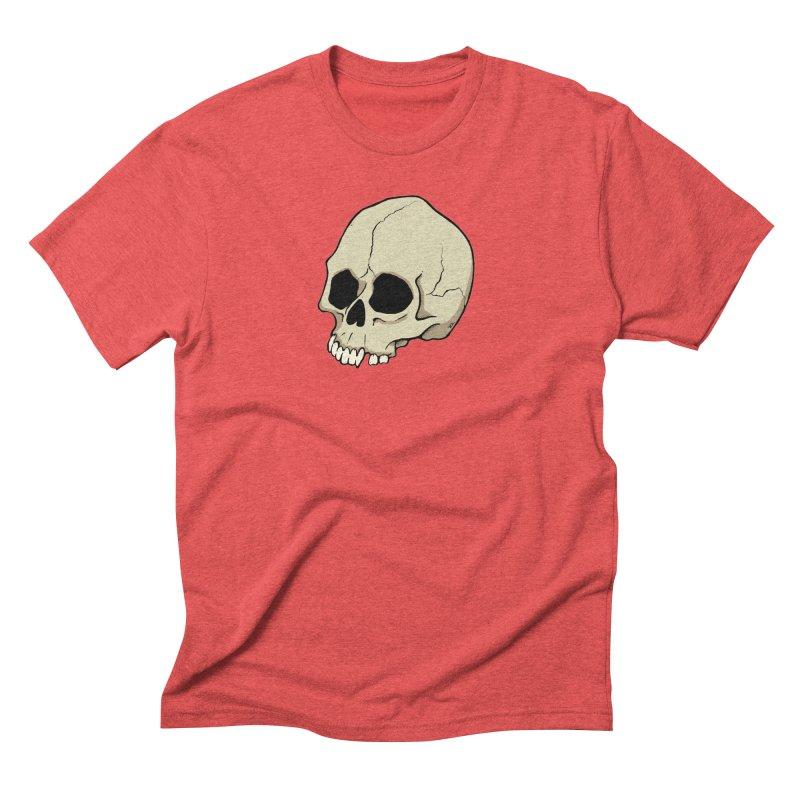 Skull Men's Triblend T-Shirt by RichRogersArt
