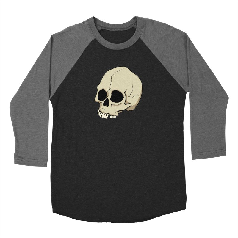 Skull Women's Baseball Triblend Longsleeve T-Shirt by RichRogersArt