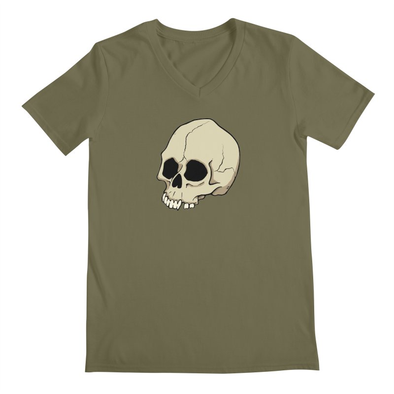 Skull Men's Regular V-Neck by RichRogersArt