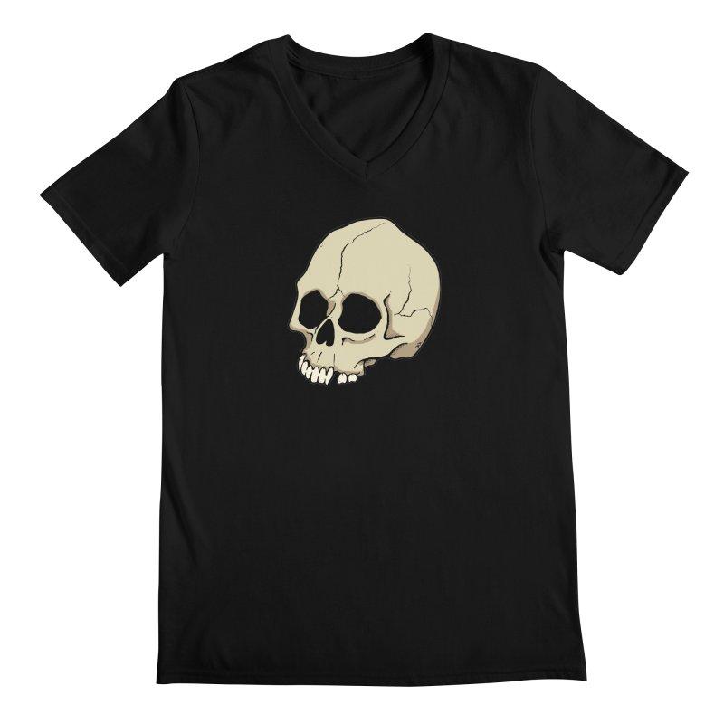 Skull Men's Regular V-Neck by RichRogersArt