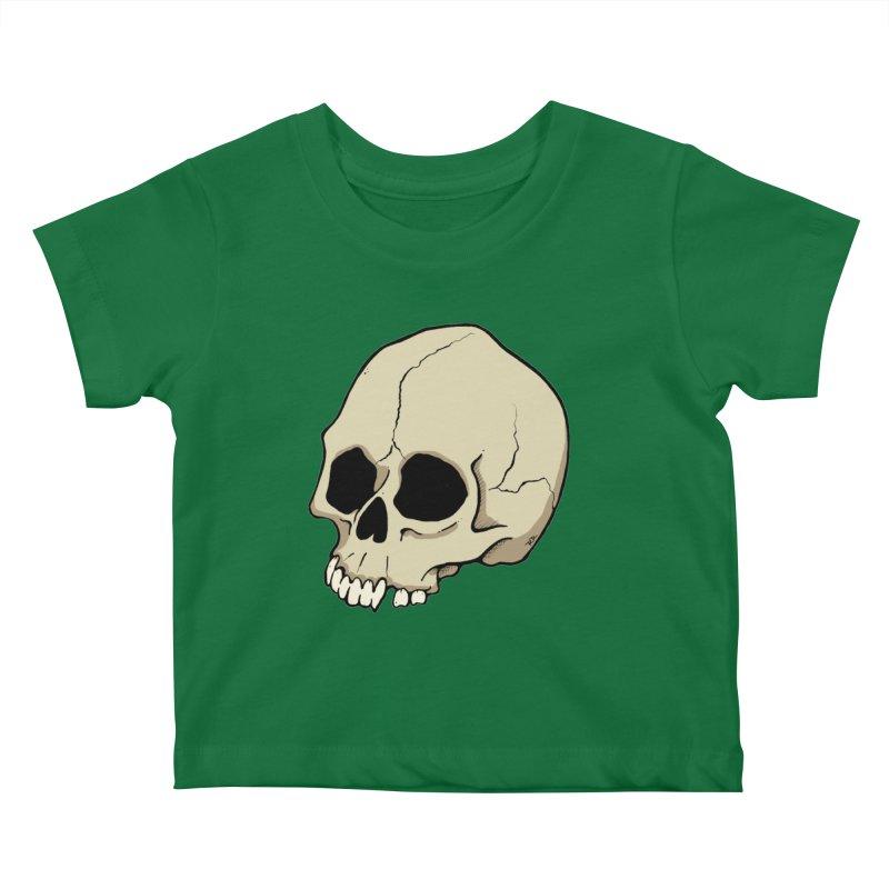 Skull Kids Baby T-Shirt by RichRogersArt