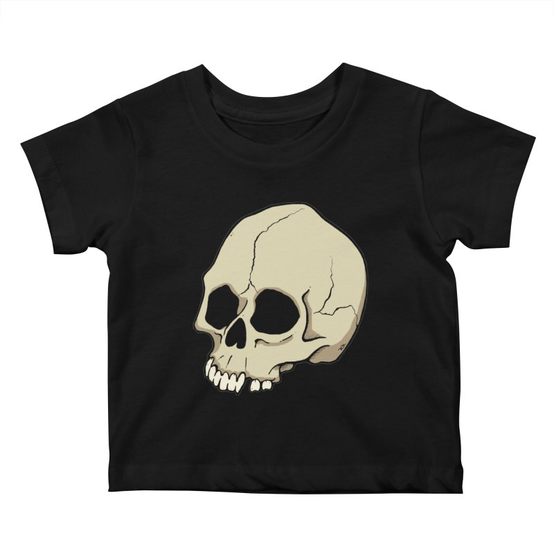 Skull Kids Baby T-Shirt by RichRogersArt