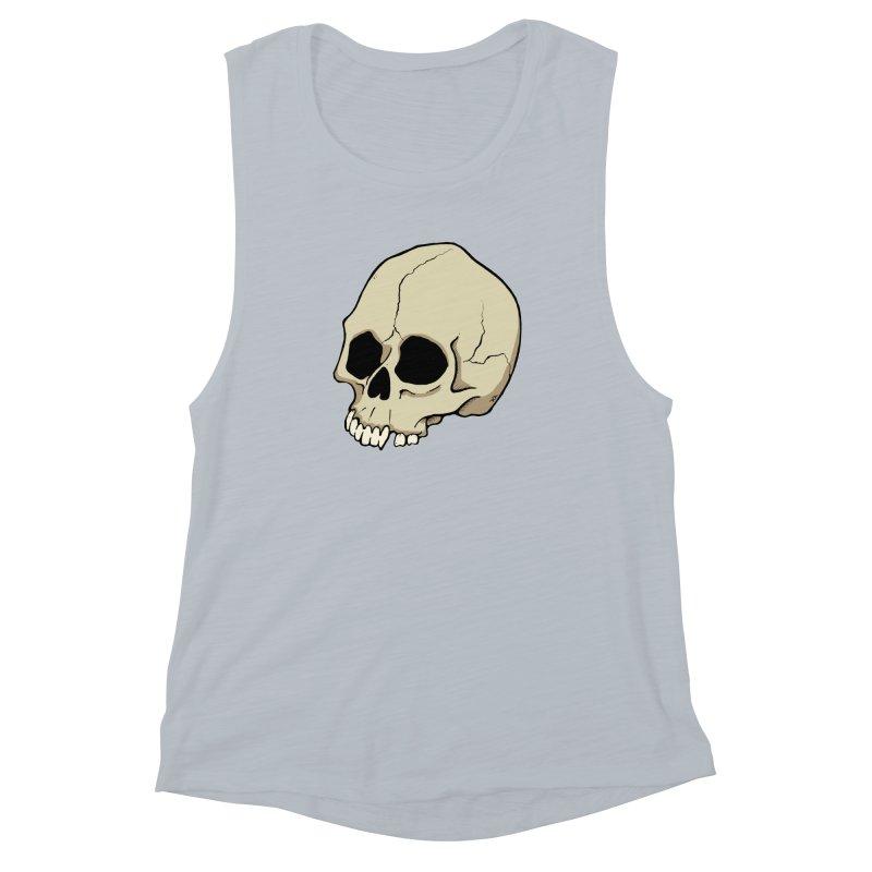 Skull Women's Muscle Tank by RichRogersArt