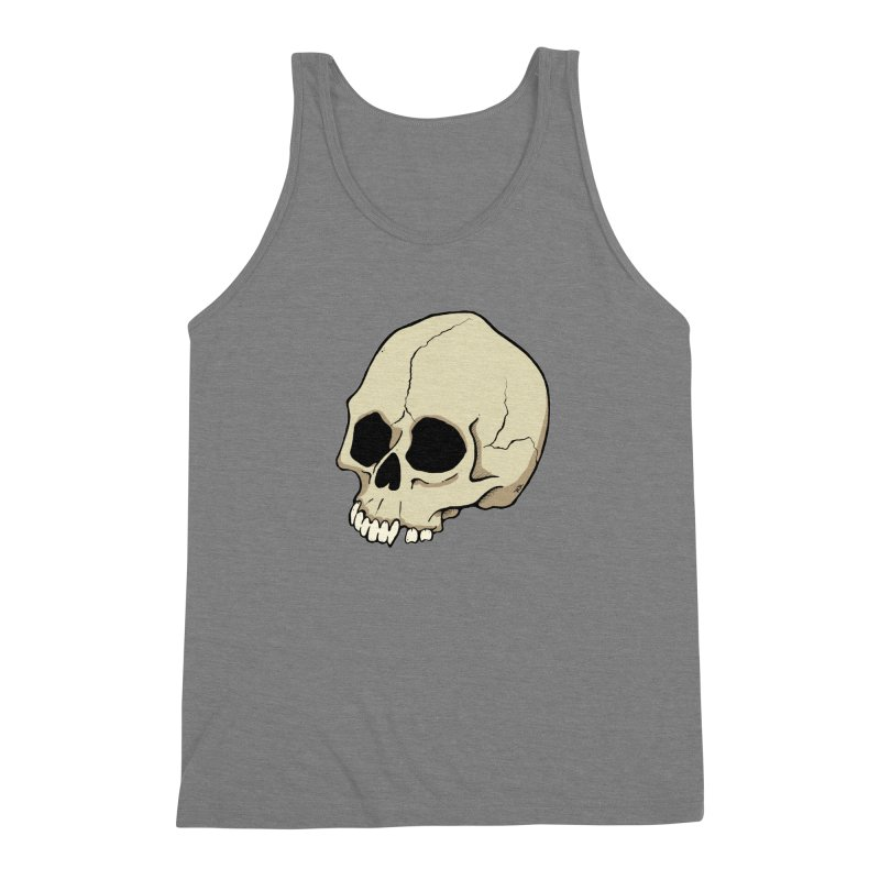 Skull Men's Triblend Tank by RichRogersArt
