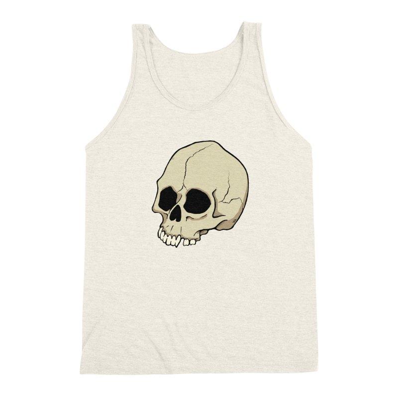 Skull Men's Triblend Tank by RichRogersArt